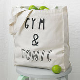 'Gym And Tonic' Tote Bag - food & drink