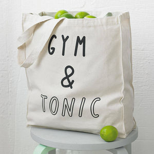 'Gym And Tonic' Tote Bag - token gifts