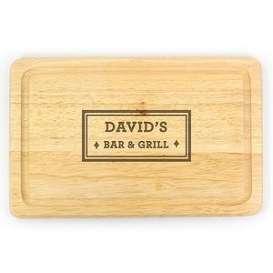 Bar And Grill Personalised Chopping Board - kitchen accessories