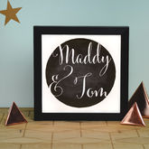 Personalised Ink Spot Illuminating Light Box - home