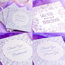 NEW for 2015 - Embossed Bridesmaid 'Thank You' & 'Will You' cards