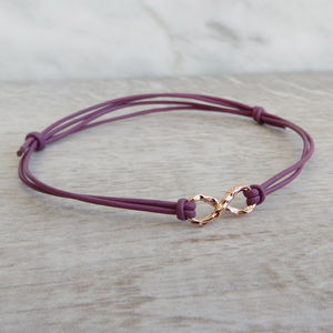 Rose Gold Infinity Bracelet - gifts for her