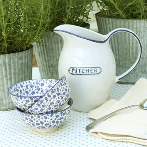 Blue And White Table Jug