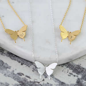 Delicate Butterfly Necklace - palentine's gifts