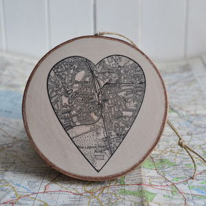 Personalised Map Wooden Keepsake