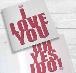 I Love You Oh Yes I Do! Card - personalised cards