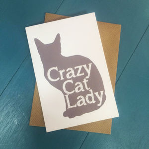 Crazy Cat Lady Greetings Card