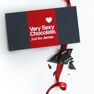 Very Sexy Personalised Chocolate Bar Box Set - love tokens for him