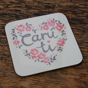 Welsh 'Caru Ti' Coaster - placemats & coasters