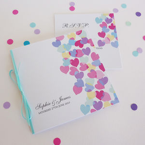 Paper Hearts Personalised Wedding Stationery - invitations