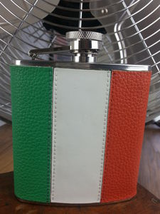 Classic Irish Tri Colour Hip Flask