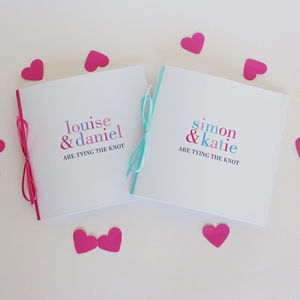 Tying The Knot Personal Wedding Stationery - engagement & wedding invitations