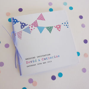 Bunting Personalised Wedding Stationery - invitations