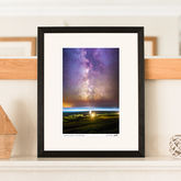 Lighthouse Aligned With The Milky Way Print - prints & art