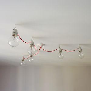 Six Bulb Festoon Chandelier Light - ceiling lights