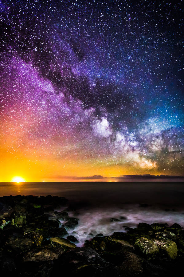 Colours of the milky way night sky print by chad powell photography colours of the milky way night sky print thecheapjerseys Image collections
