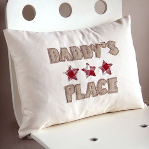 Personalised Embroidered Stars Cushion