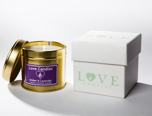 Amber And Lavender Scented Candle - candles & home fragrance