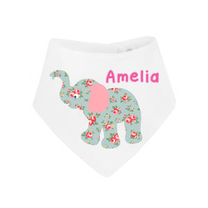Personalised Elephant Dribble Bib - bibs