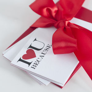 Five Mini Love Quote Cards - valentine's cards
