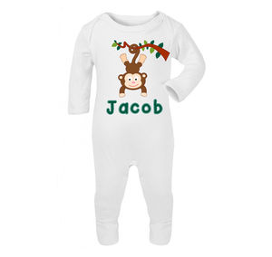 Personalised Monkey Babygrow