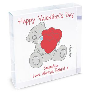 Happy Valentines Tatty Teddy Personalised Message Token
