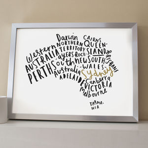 Australia Map Print - less ordinary wall art