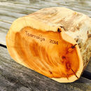 Yew Log Trinket Box