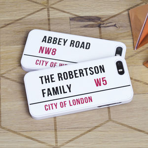 Personalised Road Sign iPhone Case