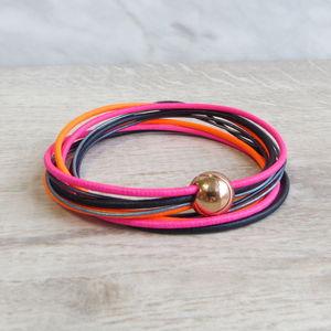 Neon Leather Cord Bracelet