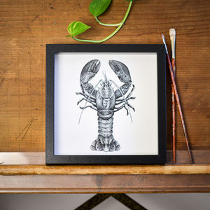 Lobster Print - drawings & illustrations