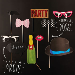 Photo Booth Props Birthday Party - room decorations
