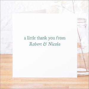 Single Or Pack Of Personalised Thank You Cards D3 - wedding stationery