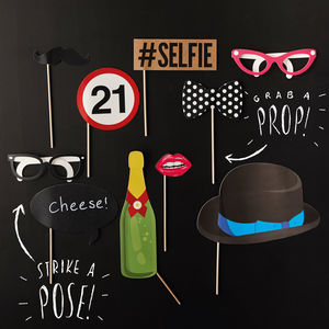 Photo Booth Props 21st Birthday Party - weddings sale