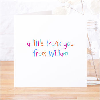 Single Or Pack Of Personalised Thank You Cards D4
