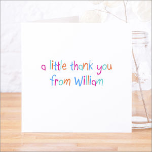 Single Or Pack Of Personalised Thank You Cards D4 - personalised