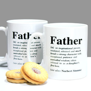 Personalised 'Father' Definition Fathers Day Mug - shop by price