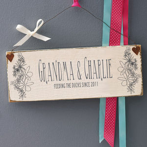 Personalised Mothers Day Wooden Sign