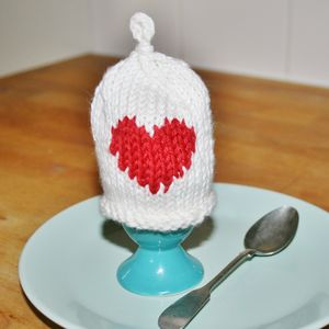 Heart 'Egg Hat' Cosy - egg cups & cosies
