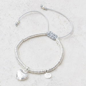 Raelyn Silver Heart Personalised Bracelet - gifts for her