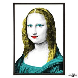 Mona Lisa Graphic Pop Art Print