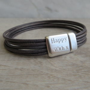 Leather Kingsley Bracelet - men's jewellery