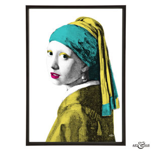 Girl With Pearl Earing Graphic Pop Art Print