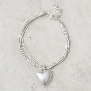 Nala Silver Personalised Heart Bracelet - view all sale items