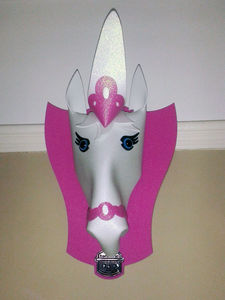 Glitter Pony Unicorn Wall Shield Hanging - home accessories