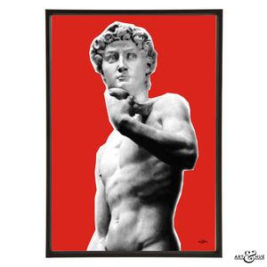 Michelangelo's David Graphic Pop Art Print
