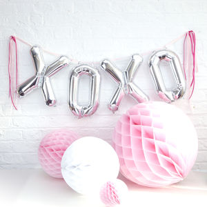 Xoxo Letter Balloons - decorations