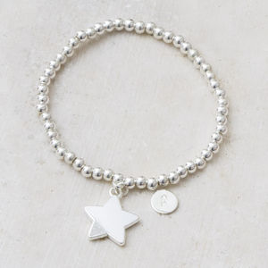 Ayla Silver Star Personalised Bracelet - stocking fillers