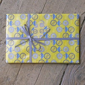 Cycling Wrapping Paper - birthday labels & tags