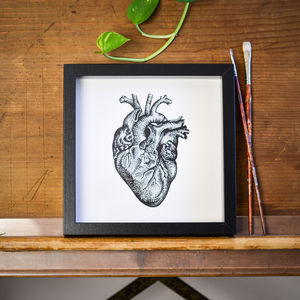 Heart Print - drawings & illustrations